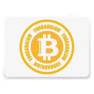 Revolução de Bitcoin versão húngara Convites Personalizados