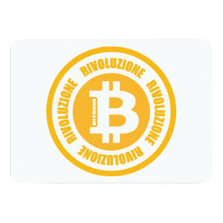 Revolução de Bitcoin (versão italiana) Convite Personalizado