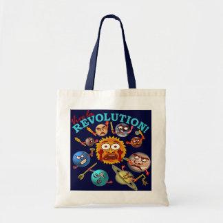 Revolução engraçada do planeta sacola tote budget