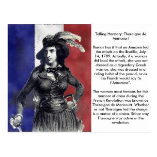 Revolucionário de Théroigne de Méricourt Francês Cartão Postal