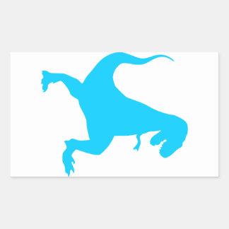Rex o dinossauro adesivos em formato retangulares