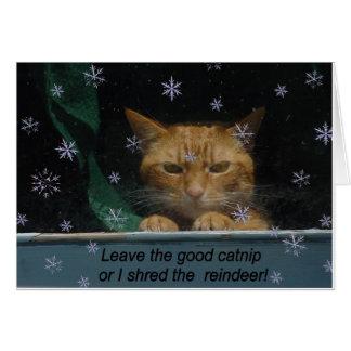 Rhe Reindeer do fragmento do cartão de Natal '