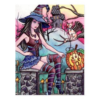 Rhea - cartão assombrado da bruxa da casa