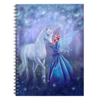 Rhiannon - caderno da fada do unicórnio e da