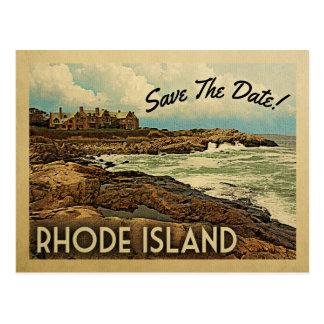 Rhode - economias da ilha os cartão do vintage da