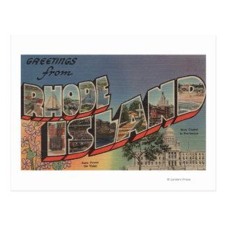 Rhode - ilha (capital de estado/flor) cartão postal