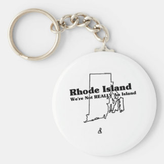 Rhode - slogan do estado de ilha chaveiro