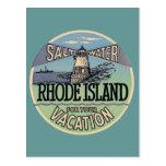 Rhode - viagens vintage da ilha cartões postais