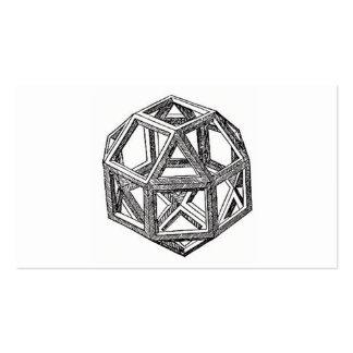 Rhombicuboctahedron, Leonardo da Vinci Cartão De Visita
