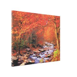 Ribeiro do outono impressão em tela canvas