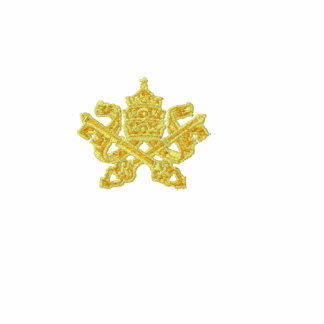 Ricamato do pontificie do chiavi de Stemma Camiseta Bordada Polo