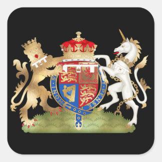 Richard o casaco do coração do leão de braço/ouro adesivo quadrado
