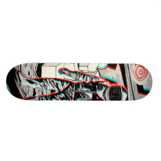rick da guarda florestal shape de skate 20cm
