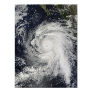 Rick do furacão a sudoeste de Baja California Pôsteres