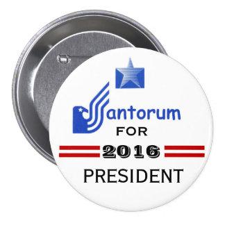 Rick Santorum 2016 Bóton Redondo 7.62cm