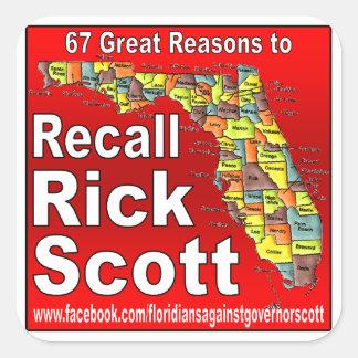 Rick Scott do aviso Adesivos Quadrados