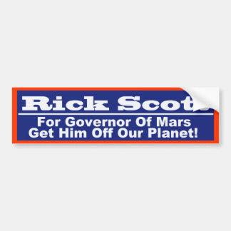 Rick Scott para o governador de Marte Adesivo