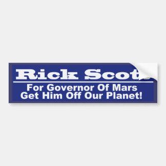 Rick Scott para o governador de Marte Adesivo Para Carro