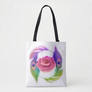 Rico cor-de-rosa & bolsa das penas