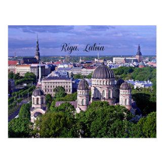 Riga, arquitectura da cidade de Latvia Cartoes Postais