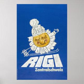 Rigi, Zentralschweiz, poster do esqui
