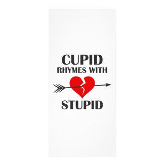 Rimas do Cupido com dia dos namorados estúpido 10.16 X 22.86cm Panfleto