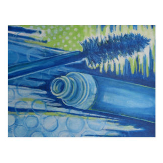 Rímel azul elétrico cartão postal