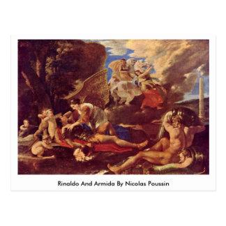Rinaldo e Armida por Nicolas Poussin Cartão Postal