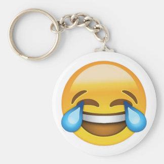Rindo para fora o chaveiro alto de Emoji