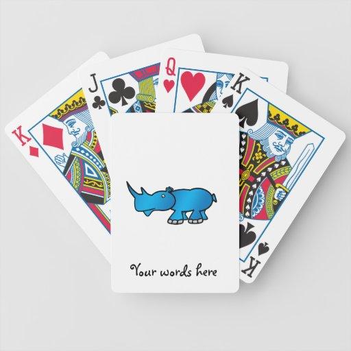 Rinoceronte azul baralho de truco
