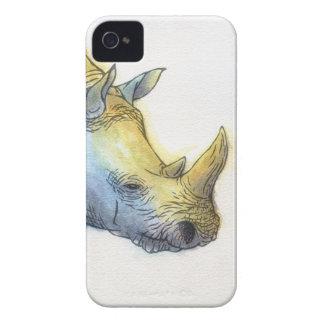 Rinoceronte branco capa para iPhone 4 Case-Mate