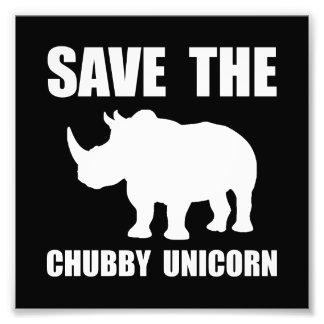 Rinoceronte carnudo do unicórnio impressão de foto