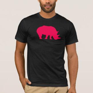 Rinoceronte cor-de-rosa camiseta
