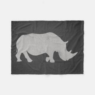 Rinoceronte do giz cobertor de lã