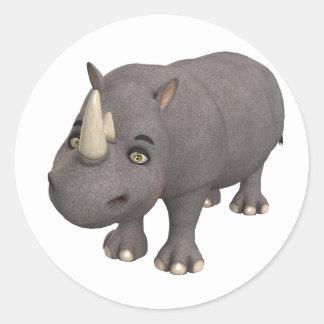 Rinoceronte dos desenhos animados adesivo
