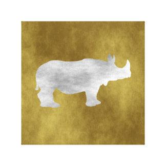 Rinoceronte Impressão Em Tela