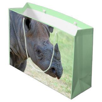 Rinoceronte preto sacola para presentes grande