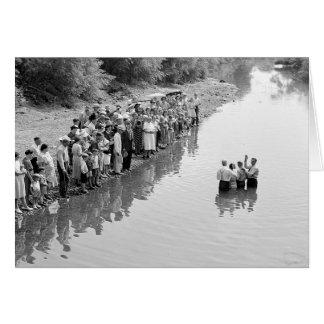 Rio Baptismo, 1940 Cartão Comemorativo