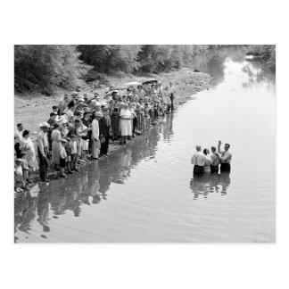 Rio Baptismo, 1940 Cartão Postal