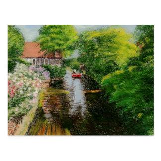 Rio Canterbury de Stour do cartão das belas artes,