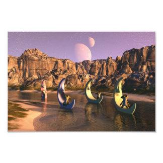 Rio da lua impressão de fotos