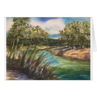Rio de Frio do alto Cartão Comemorativo