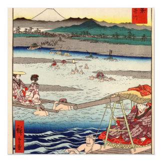 Rio de Ōi entre Suruga e províncias de Tōtōmi