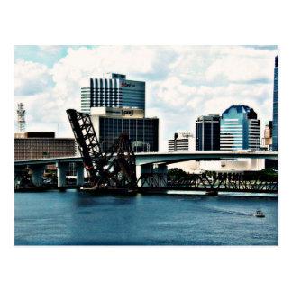 Rio de St Johns em Jacksonville do centro, Florida Cartão Postal