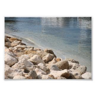 Rio e rochas impressão de foto