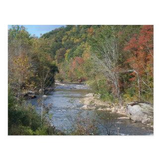 Rio excitante de West Virginia Cartão Postal
