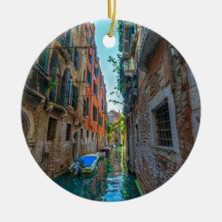 Rio italiano ornamento de cerâmica redondo