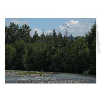 Rio o Monte Rainier do carbono Cartão De Nota