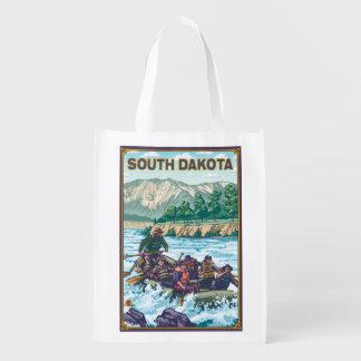 Rio RaftingSouth Dakota Sacolas Ecológicas Para Supermercado