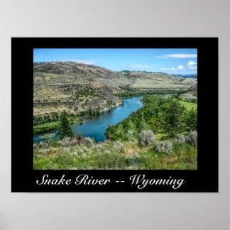 Rio Snake Wyoming -- Poster da arte
